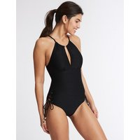 M&S Collection Secret Slimming High Neck Padded Swimsuit