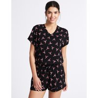 M&S Collection Bird Print Playsuit