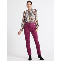Per Una Cotton Rich Slim Leg Trousers