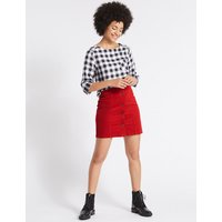 MandS Collection Cotton Rich Cord A-Line Mini Skirt