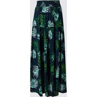 M&S Collection Leaf Print Maxi Skirt