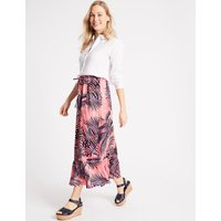 M&S Collection Pure Linen Printed Maxi Skirt