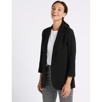 M&S Collection Single Breasted Patch Pocket Blazer
