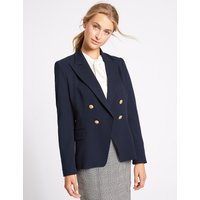 M&S Collection Gold Button Double Breasted Jacket