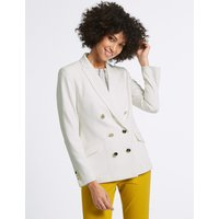 M&S Collection Double Breasted Gold Button Jacket