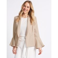 M&S Collection Frill Sleeve Blazer