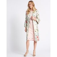 M&S Collection Jacquard Floral Print Blazer