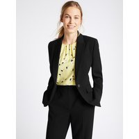 M&S Collection Single Button Crepe Jacket