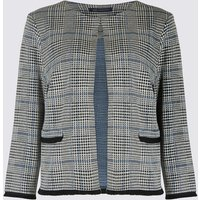 M&S Collection Checked Jersey Blazer