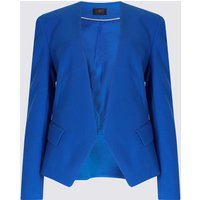 M&S Collection Open Front Collarless Blazer
