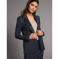 Autograph Wool Blend Longline Single Breasted Blazer