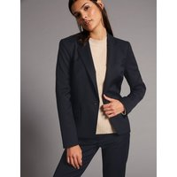 Autograph Wool Blend Single Breasted Blazer