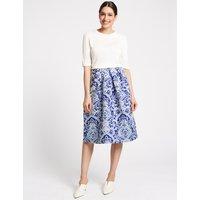 Per Una Jacquard Print Full Midi Skirt