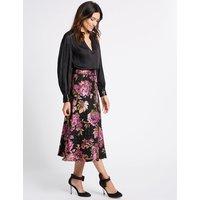Per Una Floral Jacquard A-Line Midi Skirt