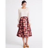 Per Una Floral Jacquard Full Midi Skirt