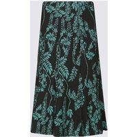 Classic Jacquard Print A-Line Midi Skirt
