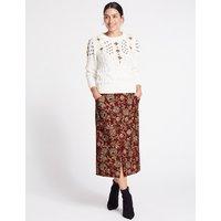 Per Una Jacquard Print A-Line Midi Skirt