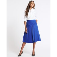 MandS Collection Textured A-Line Midi Skirt