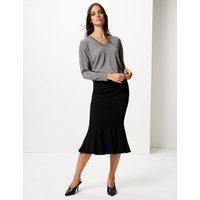 M&S Collection Fishtail Midi Skirt