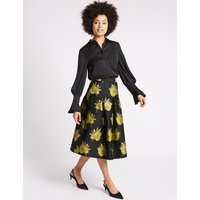 MandS Collection Floral Jacquard A-Line Midi Skirt