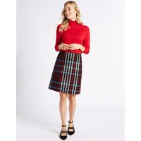 MandS Collection Checked A-Line Mini Skirt