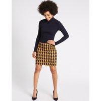 MandS Collection Geometric Print A-Line Mini Skirt