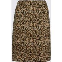 MandS Collection Animal Print A-Line Mini Skirt
