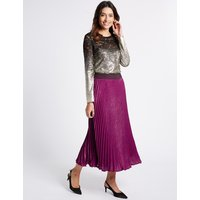 Per Una Pleated A-Line Midi Skirt