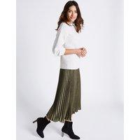 Per Una Pleated A-Line Midi Skirt