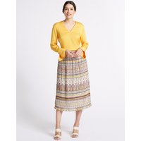 Per Una Printed A-Line Midi Skirt