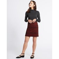 MandS Collection Paisley Print A-Line Skirt