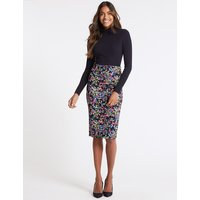 M&S Collection Floral Print Pencil Skirt