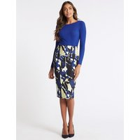 M&S Collection Geometrical Print Pencil Skirt