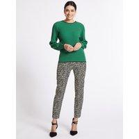 Per Una Cotton Rich Animal Print Trousers