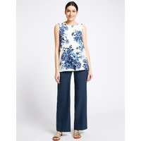 Per Una Linen Blend Wide Leg Trousers