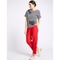 Per Una Linen Blend Ankle Grazer Straight Trousers