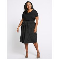 M&S Collection CURVE Full Midi Skirt