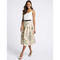M&S Collection Floral Print Full Midi Skirt
