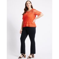 M&S Collection PLUS Slim Bootcut Trousers
