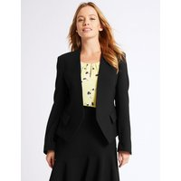 M&S Collection PETITE Collarless Jacket