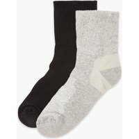 M&S Collection 2 Pair Pack Blister Resist Ankle Socks