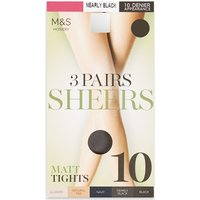 M&S Collection 3 Pair Pack 10 Denier Tights