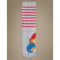 M&S Collection Paddington Cotton Rich Ankle High Socks