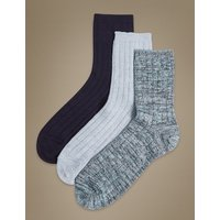 M&S Collection 3 Pair Pack Heavyweight Sumptuously Soft Ankle High Socks