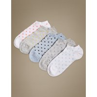 M&S Collection 5 Pair Pack Sumptuously Soft Trainer Liner Socks