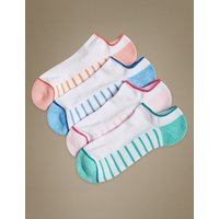 M&S Collection 4 Pair Pack Sports Trainer Liner Socks