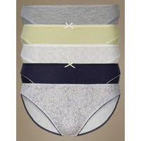 M&S Collection 5 Pack Cotton Rich High Leg Knickers at Marks and Spencer Online