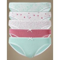 M&S Collection 5 Pack Cotton Rich Bikini Knickers