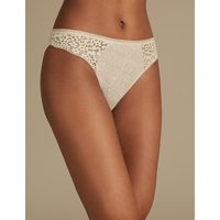 M&S Collection Cotton Rich Vintage Lace High Leg Knickers