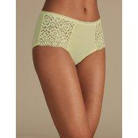 M&S Collection Cotton Rich Vintage Lace High Rise Shorts